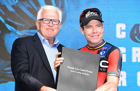 Cadel Evans after the 2015 Cadel Evans Great Ocean Road Race