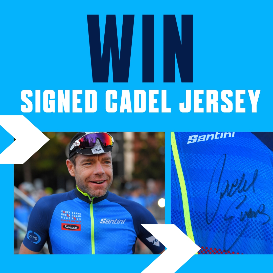 Win a signed Cadel jersey